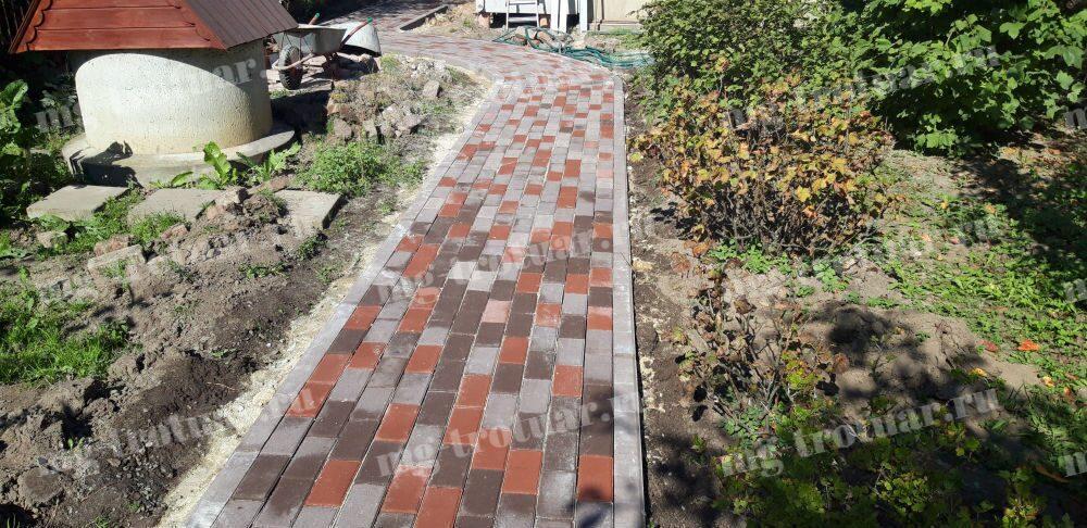 Тротуарная плитка в Домодедово. Укладка брусчатки