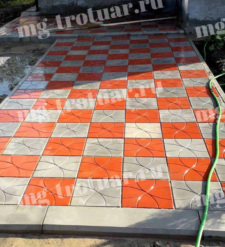 Укладка тротуарной плитки Радиус Цветок в Москве МГ Тротуар (1)