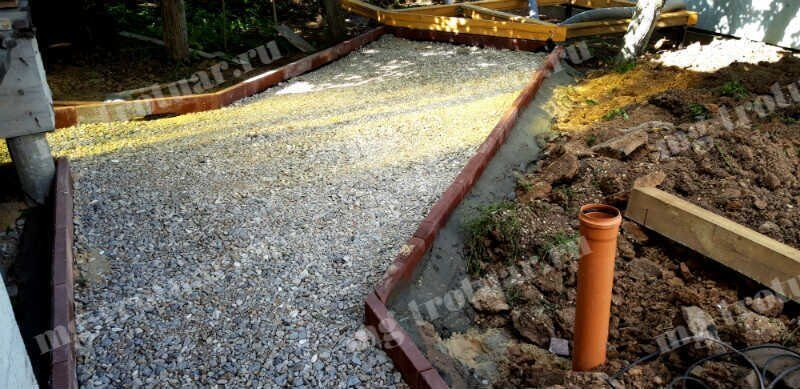 Щебеночное основание под тротуарную плитку