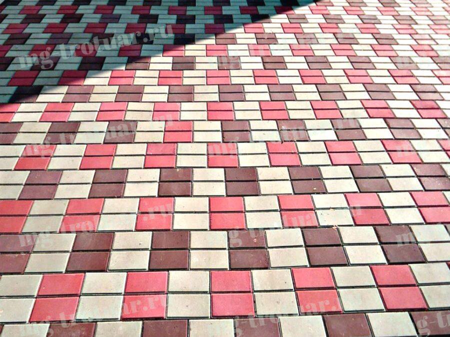 вибролитая тротуарная плитка Кирпич 200x100x60