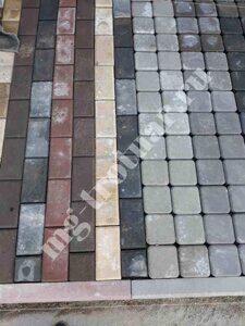 соль на тротуарной плитке