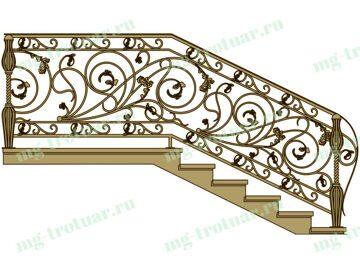 Заказать Перила из метала для лестницы с бесплатной доставкой и установкой в Москве и московской области