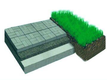 укладка тротуарной плитки на готовое бетонное основание